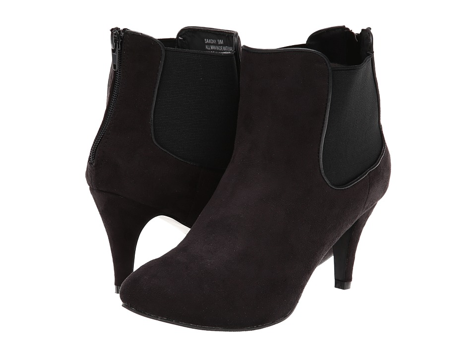 Annie - Saxony (Black Suede) Women's Shoes