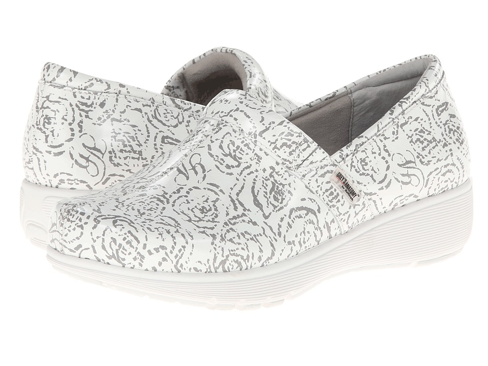 SoftWalk - Meredith (White Floral Printed Patent Leather) Women