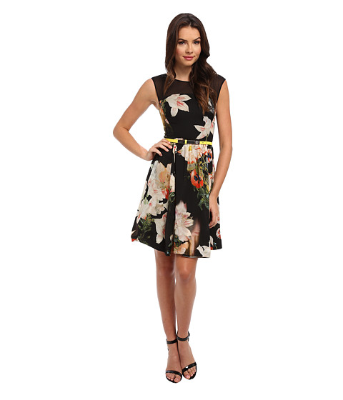 Ted Baker - Cameela Opulent Bloom Full Skirt (Black) Women's Dress