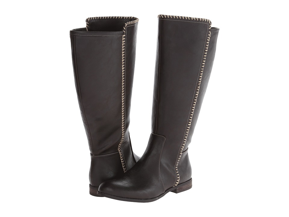 Dr. Scholl's - Confess Wide Calf (Dark Brown) Women's Pull-on Boots