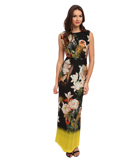 Ted Baker - Jasmyne Opulent Bloom Slash Neck Dress (Black) Women's Dress
