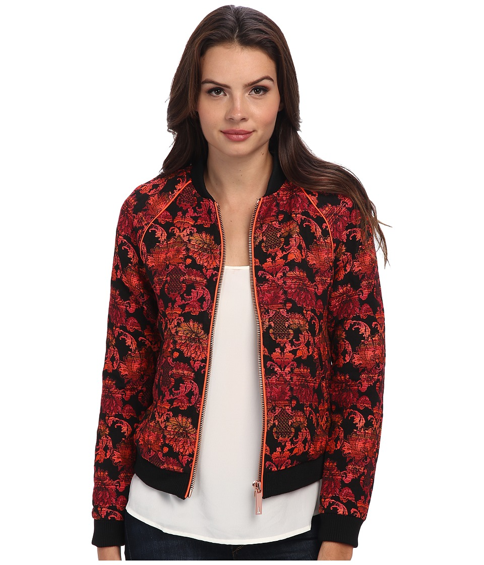 Ted Baker - Rakka Boucle Bomber Jacket (Black) Women's Jacket