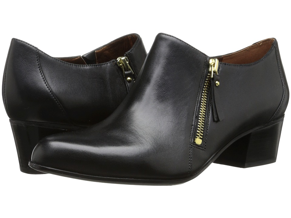 Naturalizer - Tipley (Black Leather) Women's Shoes