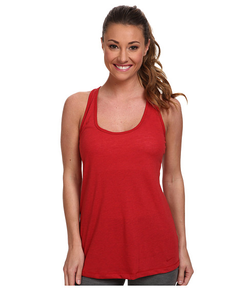 Nike - Flow Tank (Gym Red Heather/Gym Red) Women