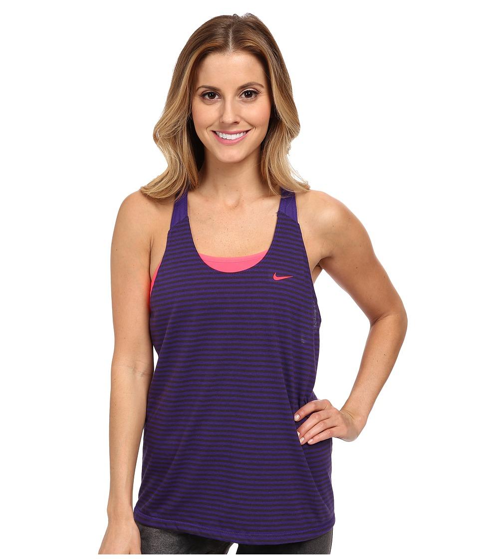Nike - Elastika Stripe Tank Top (Court Purple/Hyper Punch/Hyper Punch) Women's Sleeveless