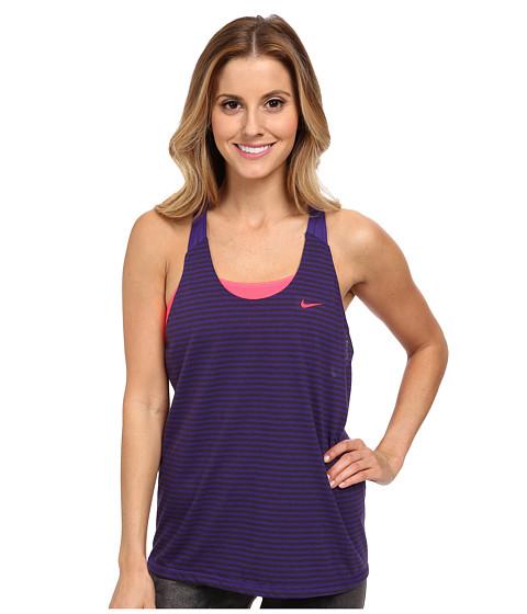 Nike - Elastika Stripe Tank Top (Court Purple/Hyper Punch/Hyper Punch) Women