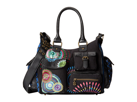8433937513107. Desigual London Medium Eclipse Crossbody (Black) Cross Body  Handbags 9655005b2df