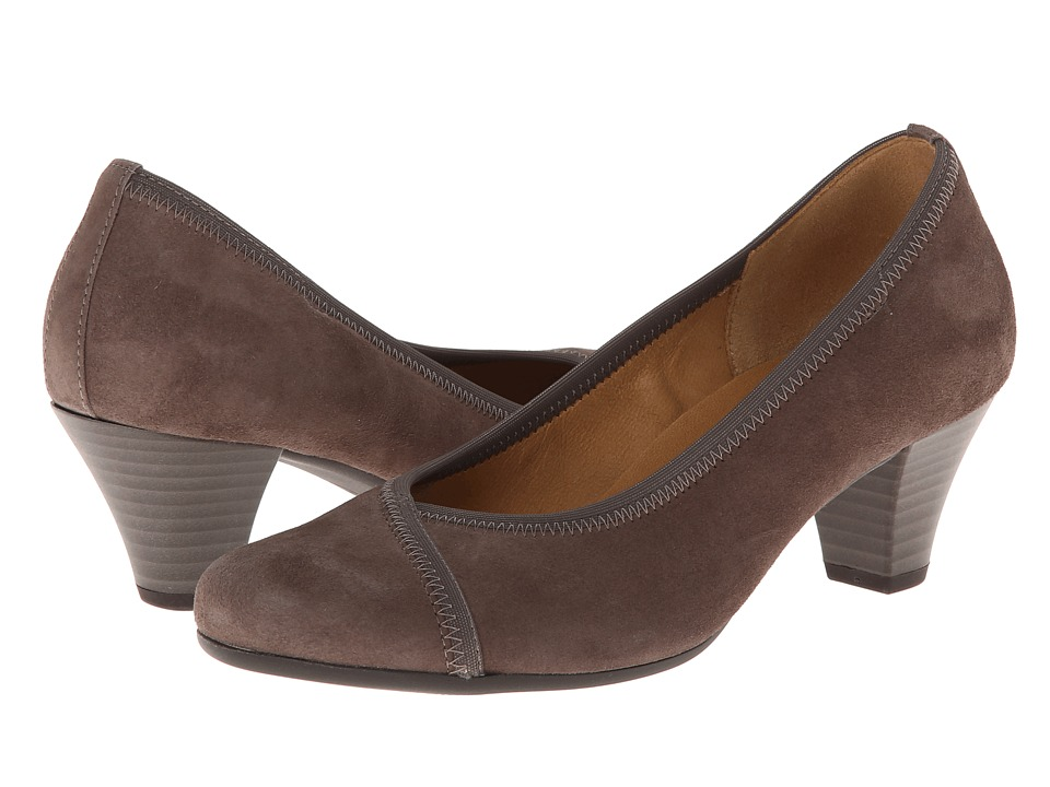 Gabor - Gabor 95.484 (Medium Taupe Samtchevreau) High Heels