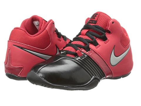 Nike Kids - AV Pro V (Little Kid/Big Kid) (Black/Metallic Silver/University Red) Boys Shoes