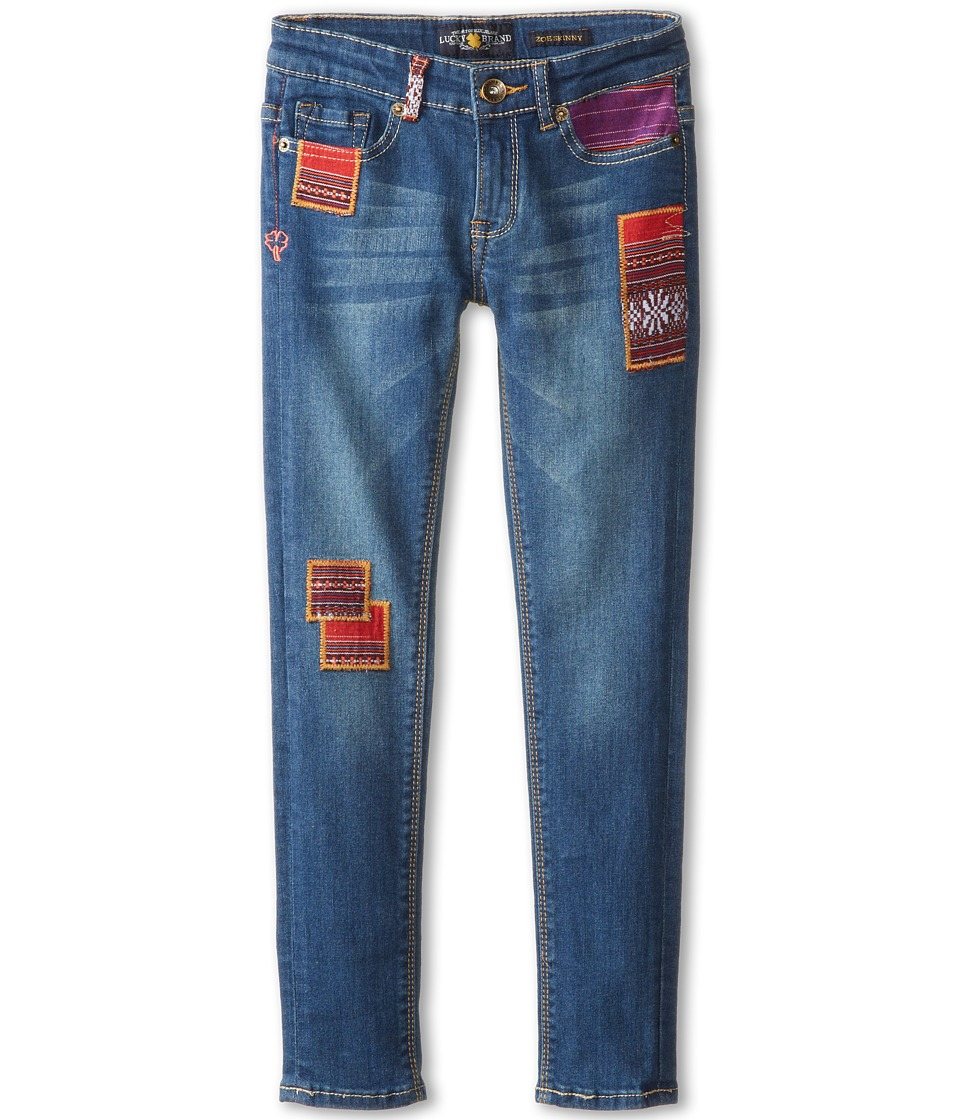 Lucky Brand Kids - Juniper Patchwork Zoe Jean (Big Kids) (Bluegrass Wash) Girl's Jeans