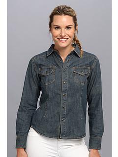 SALE! $34.99 - Save $29 on Life is good Denim Button Up Shirt (Vintage Wash Denim) Apparel - 45.33% OFF $64.00