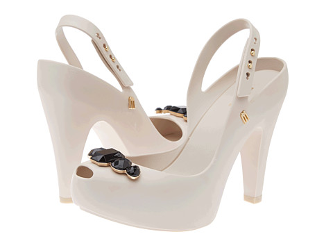 Melissa Shoes - Melissa Ultragirl Heel Special (Beige) High Heels