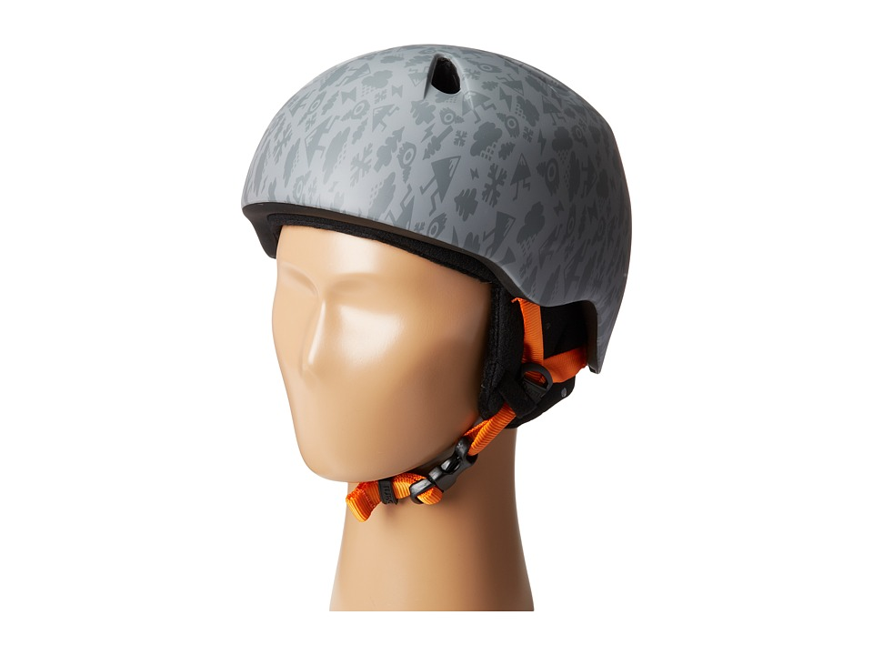 Bern - Nino (Satin Grey Feature Creature w/ Black Fleece) Skateboard Helmet