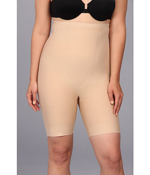 TC Fine Intimates - Plus Size Just Enough Hi-Waist Thigh Slimmer 4009 (Nude) Women's Underwear