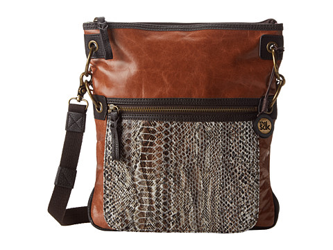 The Sak - Pax Leather Crossbody (Brown Snake Multi) Cross Body Handbags