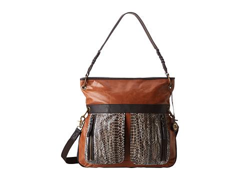 The Sak - Pax Leather Large Crossbody (Brown Snake Multi) Cross Body Handbags