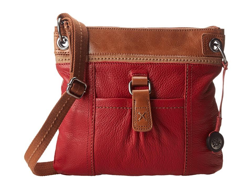 The Sak - Kendra Leather Crossbody (Cherry Block) Cross Body Handbags