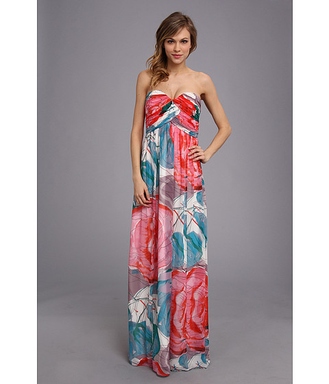 Donna Morgan - Laura Long Printed Chiffon Gown (Taffy) Women's Dress