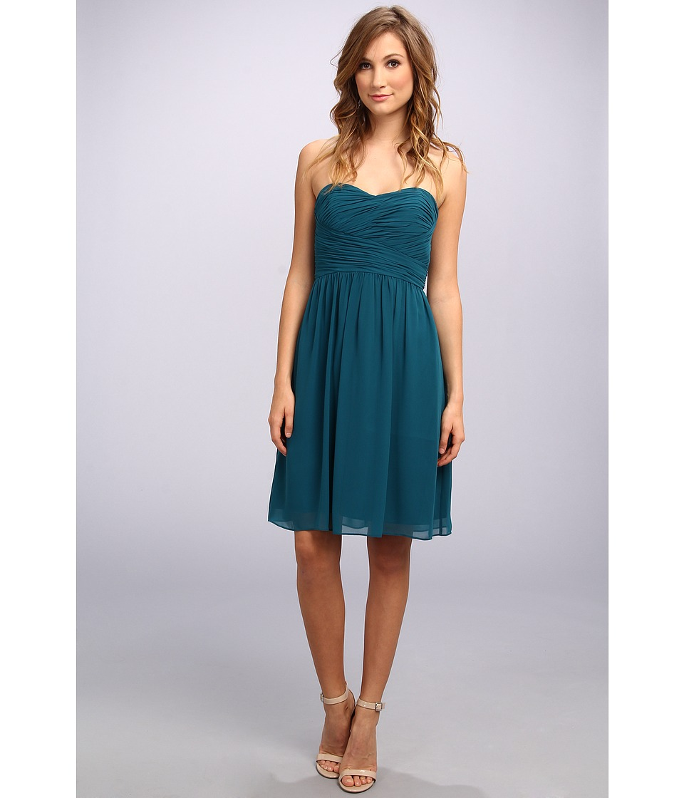 Donna Morgan - Sarah Short Rouched Dress (Jade) Women