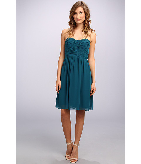 Donna Morgan - Sarah Short Rouched Dress (Jade) Women