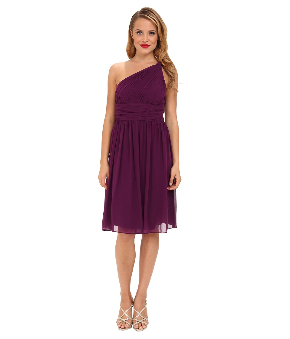 Donna Morgan - Rhea One-Shoulder Dress (Grape) Women