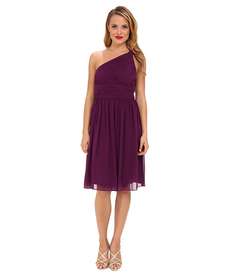 Donna Morgan - Rhea One-Shoulder Dress (Grape) Women's Dress