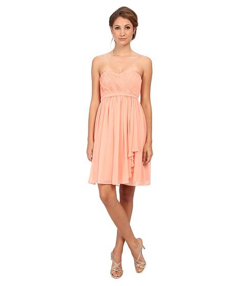 Donna Morgan - Lindsey Strapless Chiffon Dress (Peach Fuzz) Women's Dress