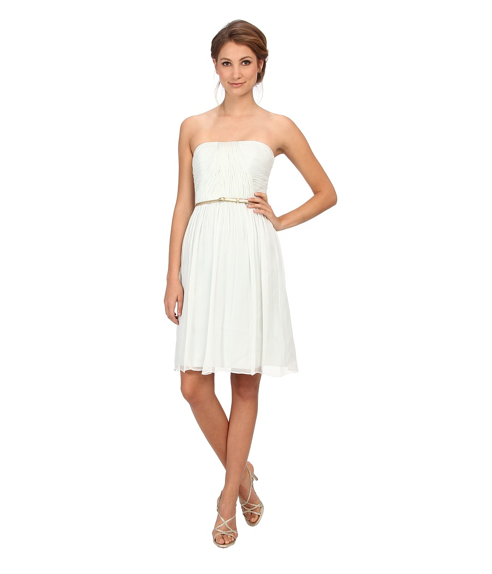 Donna Morgan - Donna Strapless Belted Chiffon Dress (Hint of Mint) Women's Dress