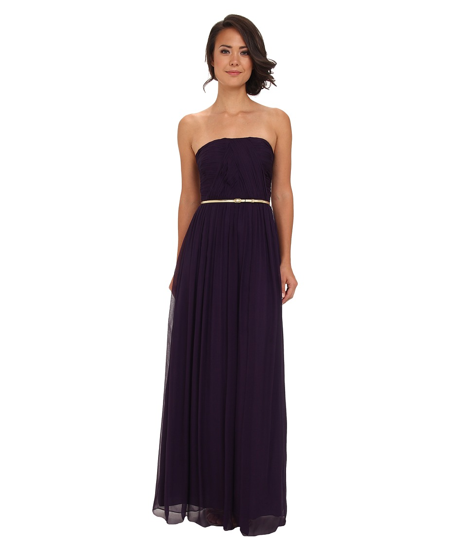Donna Morgan - Multi-Directional Belted Bustier Dress (Amethyst) Women's Dress