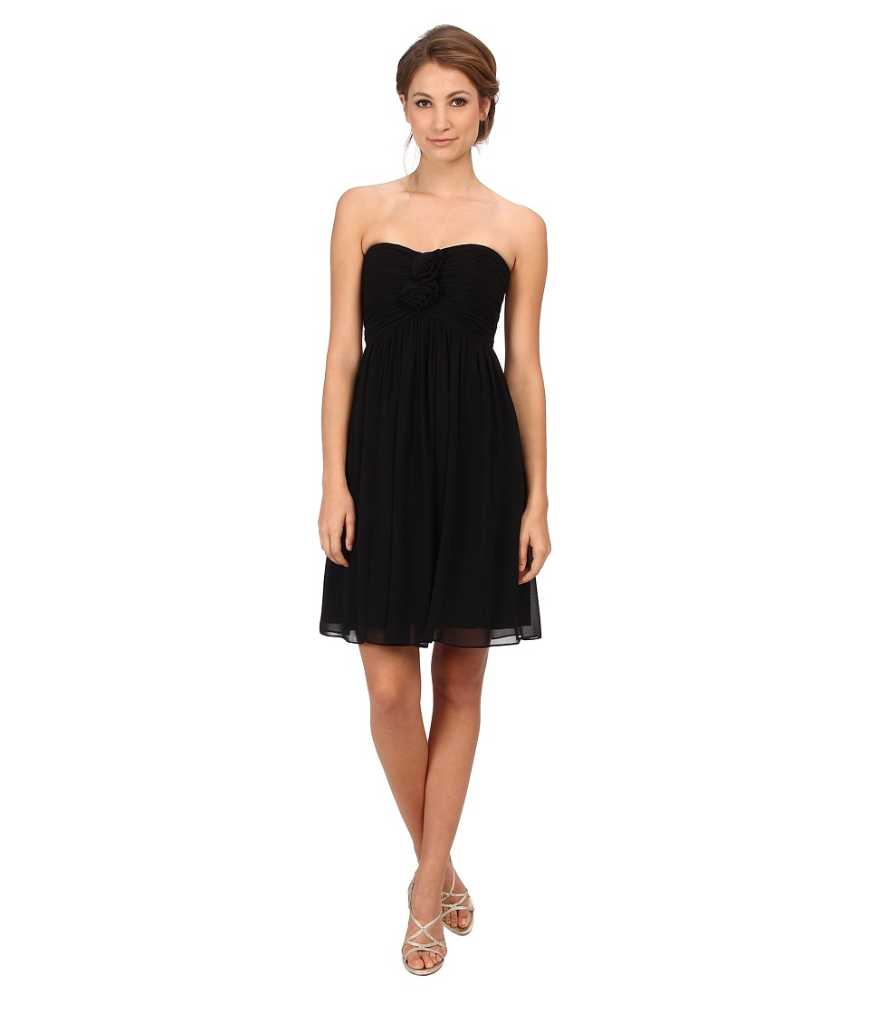 Donna Morgan - Hallie Double Front Rosette Dress (Black) Women's Dress