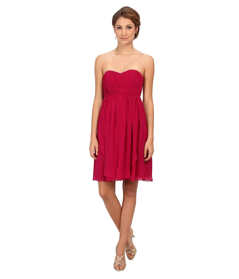 Donna Morgan - Blaire Sweetheart Multi Directional Bustier w/ Skirt Panels (Berry) Women's Dress