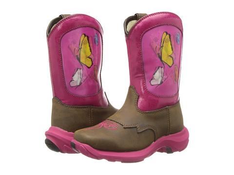 Durango Kids - Lil' Durango 8 Take Flight (Toddler/Little Kid) (Light Brown/Hot Pink) Girls Shoes