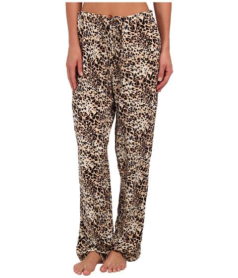 Hanky Panky - Animal Twill Drawstring Pants (Brown) Women