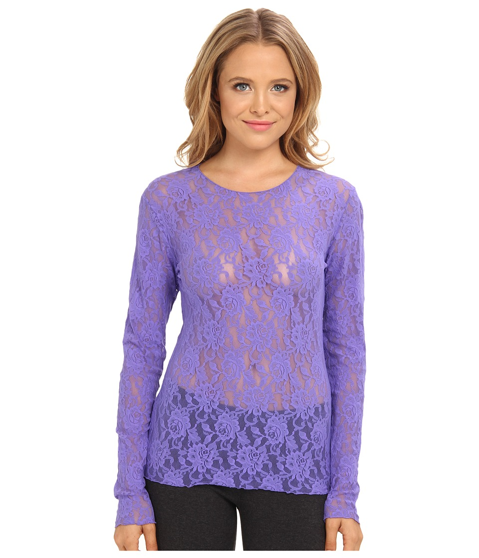 Hanky Panky - Signature Lace Unlined Long Sleeve Top (African Violet) Women's Lingerie