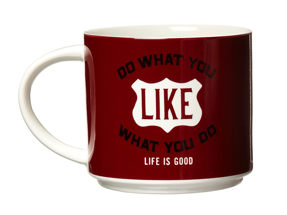 Life is good - Stack-Happy Mug (Simply Ivory/Holiday Red) Individual Pieces Cookware