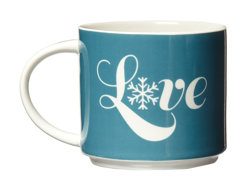 Life is good - Stack-Happy Mug (Holiday Red/Turquoise Blue) Individual Pieces Cookware