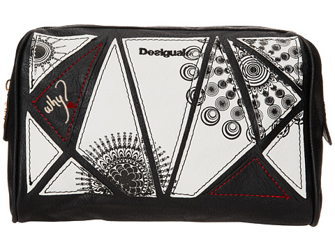 Desigual - Neceser Geo Medium Pouch (Black) Handbags