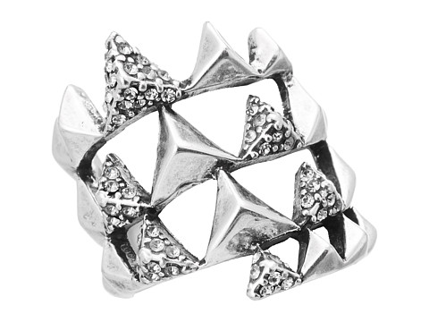 House of Harlow 1960 - Pyramid Wrap Ring w/ Pav (Silver Tone) Ring