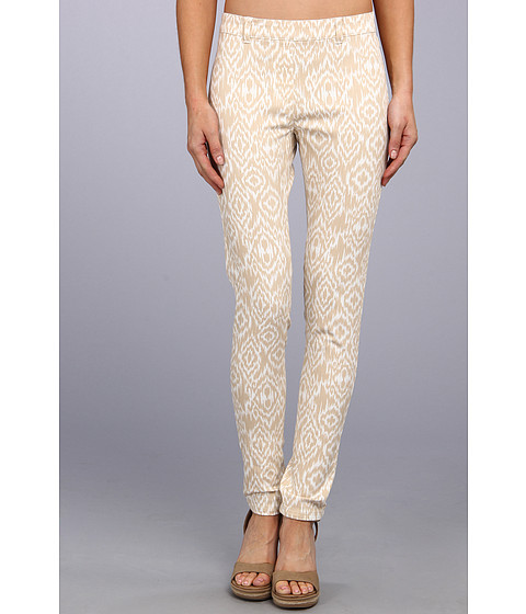 Christin Michaels - Comfort Waist Stretch Ikat Jean (Beige/White) Women's Casual Pants