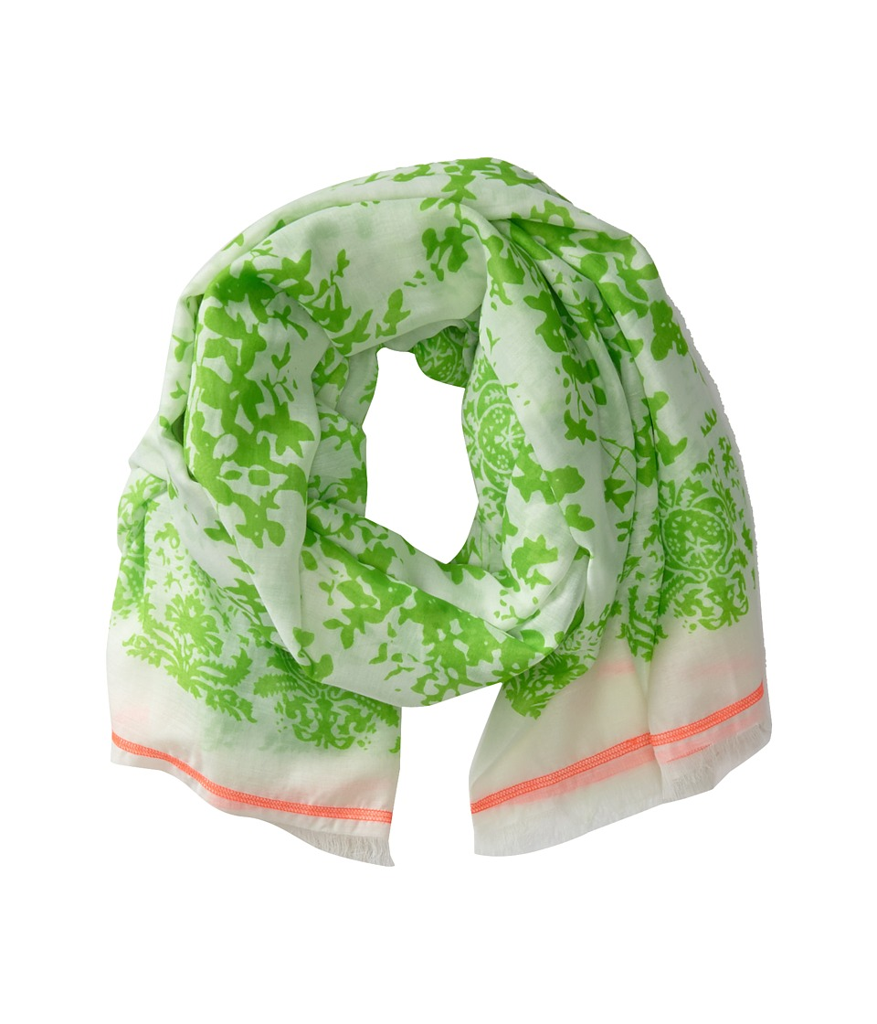 Michael Stars - Neon Foliage Wrap (Honeydew) Scarves