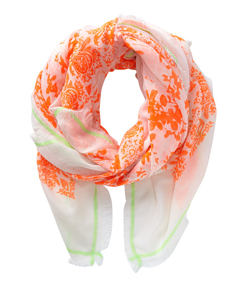 Michael Stars - Neon Foliage Wrap (Bonfire) Scarves
