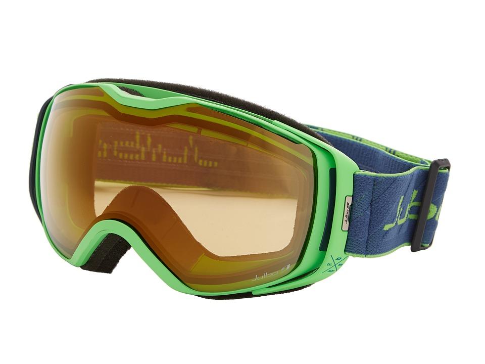 Julbo Eyewear - Universe Goggle (Green/Dark Blue Zebra Lens) Snow Goggles