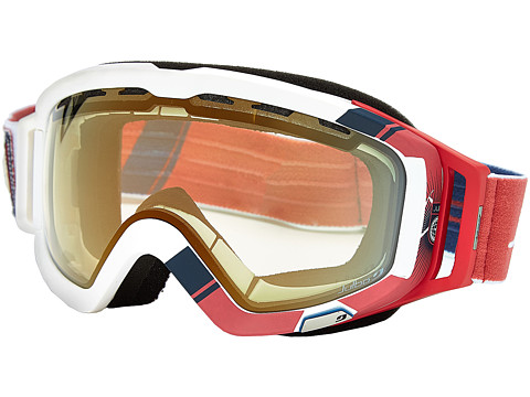 Julbo Eyewear - Orbiter (White/Blue/Red Zebra Light Lens) Athletic Performance Sport Sunglasses