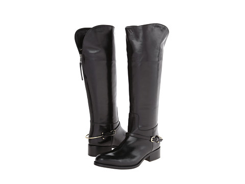 Johnston & Murphy - Sari Stirrup Boot (Black Calfskin) Women's Boots