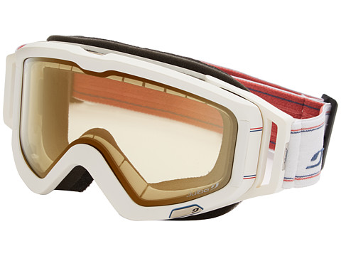 Julbo Eyewear - Meteor (White/Blue/Red Zebra Light Lens) Goggles