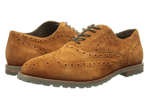 Johnston & Murphy - Brit Slip-On (Amber Kid Suede) Women's Slip on Shoes
