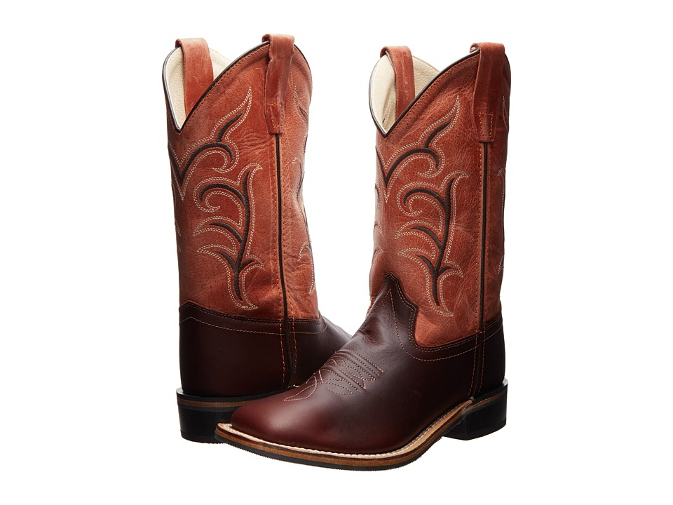 Old West Kids Boots - Western Boots (Toddler/Little Kid) (Oiled Rust/Red) Cowboy Boots