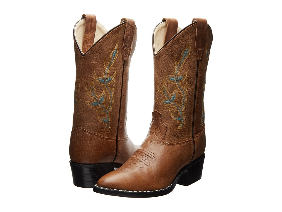 Old West Kids Boots - Western Boots (Toddler/Little Kid) (Light Brown) Cowboy Boots