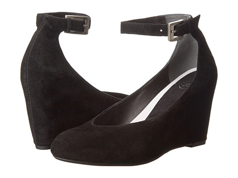 Johnston & Murphy - Tracey Ankle Strap (Black Suede) Women's Shoes