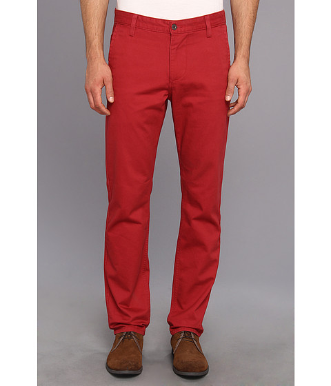 Dockers Men's - Game Day Alpha Khaki Slim Tape Red Flat Front Pant (University of Alabama - Red) Men's Casual Pants